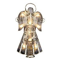 9.75-Inch Capiz Angel Tree Topper