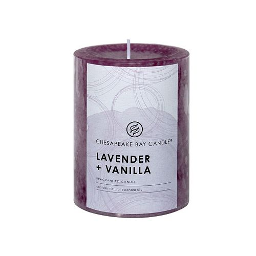 Chesapeake Bay Candle Lavender & Vanilla 4-in. Pillar Candle