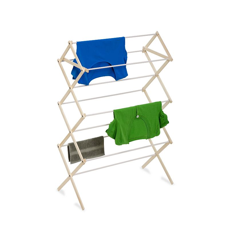 Honey-Can-Do Medium Knockdown Drying Rack, Adult Unisex, Size: DRY RACK, Beig/Green Help keep your energy costs down with this Honey-Can-Do 24 linear feet wood knockdown drying rack. FEATURES 47.1''H x 30.25''W x 15''D Coated rods prevent snagging Top shelf great for air drying sweaters Portable Folds down to 2 inches for storage CONSTRUCTION & CARE Wood Manufacturer's limited lifetime warrantyFor warranty information please click here  Size: DRY RACK. Color: Beig/Khaki. Gender: unisex. Age Group: adult.