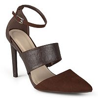 Journee Collection Qcandy Women's Ankle Strap High Heels