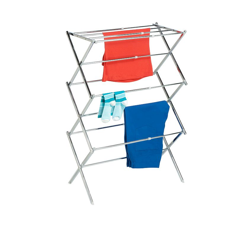 Honey-Can-Do Expandable Drying Rack, Adult Unisex, Size: DRY RACK, Grey Always have ample drying space with this Honey-Can-Do expandable drying rack. FEATURES 41.5''H x 30.5''W x 14.5''D 25 feet of air drying space Sturdy, durable Expands from 19 to 30.5 inches Folds away when not in use CONSTRUCTION & CARE Steel Manufacturer's limited lifetime warrantyFor warranty information please click here  Size: DRY RACK. Color: Grey. Gender: unisex. Age Group: adult.