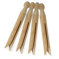 Honey-Can-Do 100-pk. Wood Clothespins