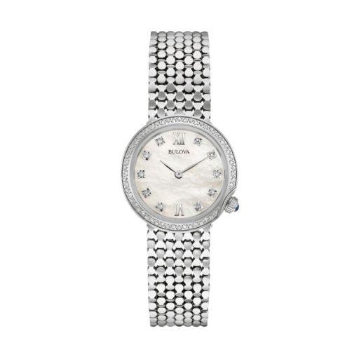 Bulova Women's Maiden Lane Diamond Stainless Steel Watch - 96R206