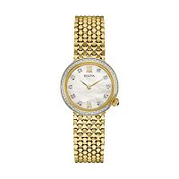 Bulova Women's Maiden Lane Diamond Stainless Steel Watch - 98R218