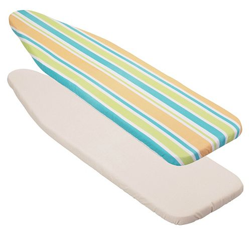 Honey-Can-Do Stripes Superior Reversible Ironing Board Cover with Pad