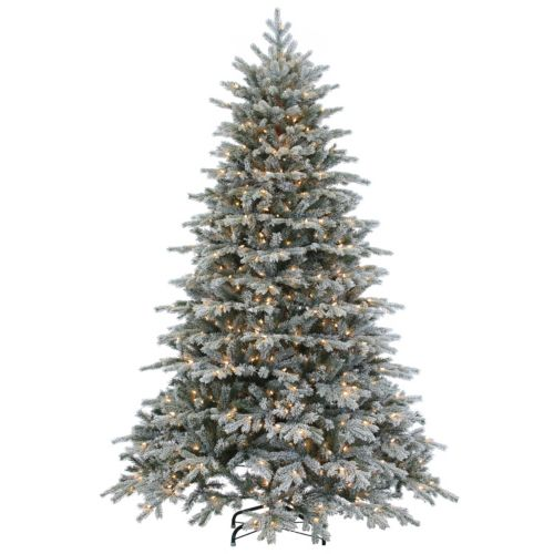 Sterling 7.5' Natural Cut Flocked Vermont Spruce Artificial Christmas Tree