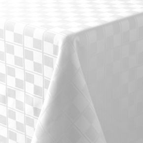 Food Network? Stain-Resistant Microfiber Checkered Tablecloth
