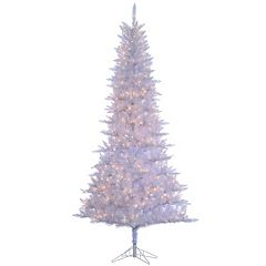 Sterling 9' White Tiffany Tinsel Artificial Christmas Tree