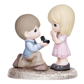 Precious Moments ''Will You Marry Me'' Boy Proposing to Girl Figurine