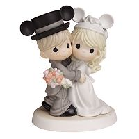 Disney's Mickey Mouse Wedding Couple Wearing Mickey Ears Figurine by Precious Moments