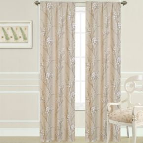 Laura Ashley 2-pack Pussy Willow Window Curtains - 40'' x 84''