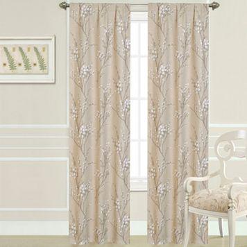 Laura Ashley Pussy Willow Window Curtain Set - 40'' x 84''