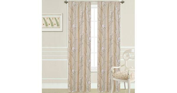 Laura Ashley 2-pack Pussy Willow Curtains