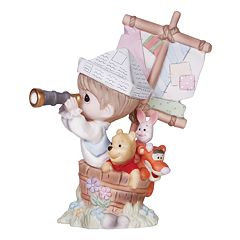 Disney's Winnie The Pooh ''Good Friends'' Boy In Ship With Pooh Figurine by Precious Moments