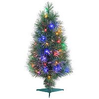 Sterling 3' Multi-Colored LED Fiber Optic Artificial Christmas Tree