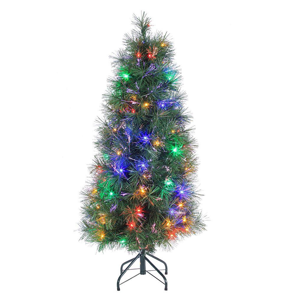 4' Multi Colored LED Fiber Optic Artificial Christmas Tree - Multi Colored Christmas Trees