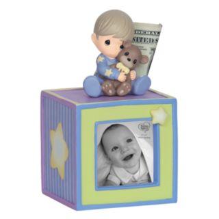 Precious Moments Baby Boy Photo Cube Bank