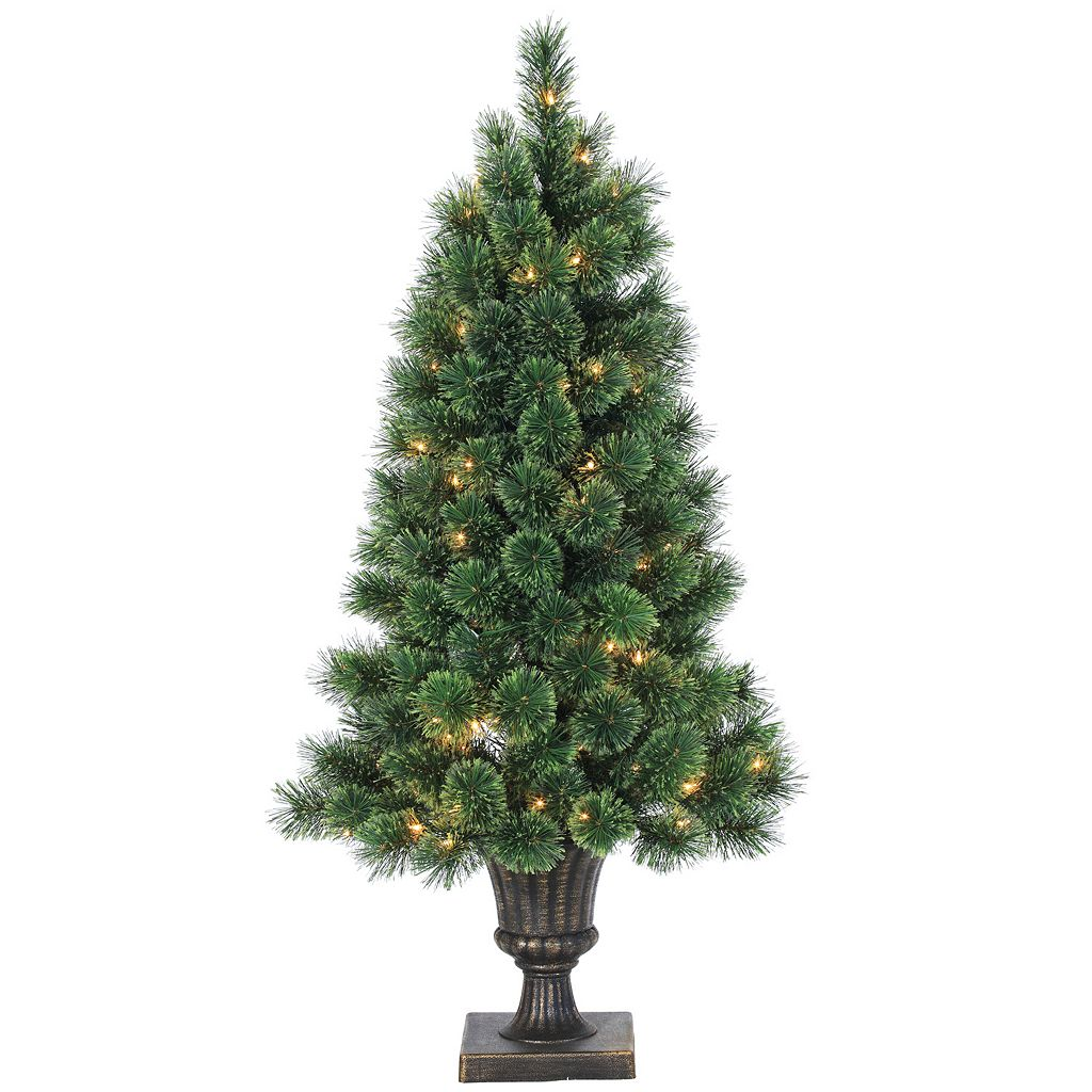 Sterling 4' Potted Hard Needle Deluxe Cashmere Pine Artificial Christmas Tree