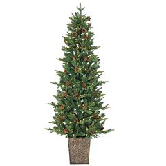 Sterling 6' Potted Natural Cut Georgia Pine Artificial Christmas Tree