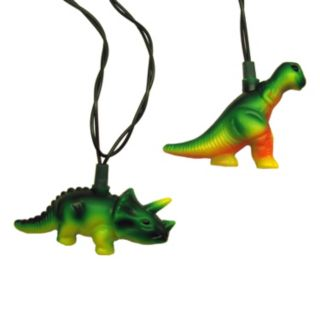 10-Light T-Rex & Stegosaurus String Lights