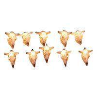 10-Light Cow Skull String Lights