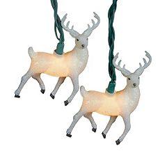 10-Light Glitter Reindeer String Lights