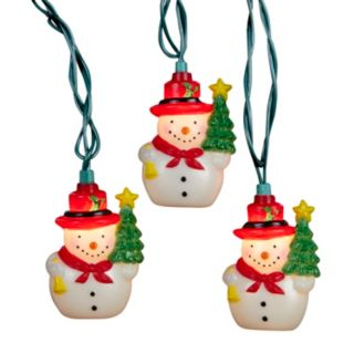10-Light Christmas Snowman String Lights