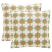 Safavieh Carna 2-pc. 20'' x 20'' Throw Pillow Set