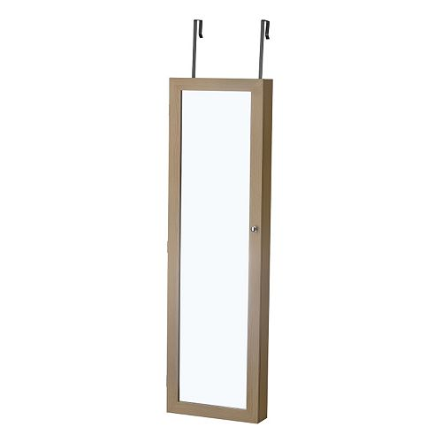 InnerSpace Luxury Products Mirrored Wall Jewelry Armoire