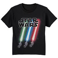 Boys 8-20 Star Wars Slanted Lightsabers Glow-in-the-Dark Tee