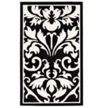 Linon Capri Framed Damask Rug - 4'3'' x 7'3''