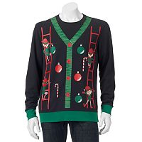 Men's Elf Ladder Christmas Sweatshirt