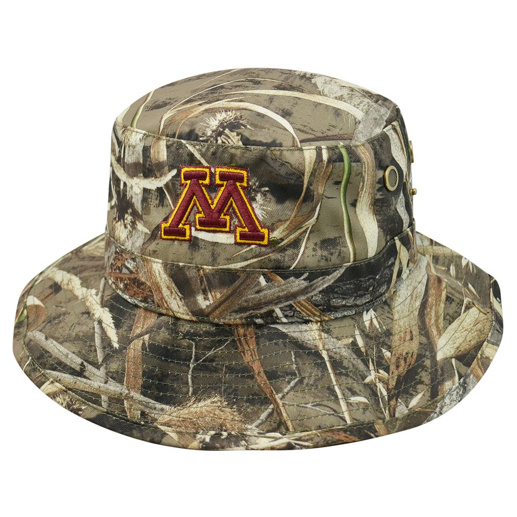 Adult Top of the World Minnesota Golden Gophers Realtree Camouflage Boonie Max Bucket Hat