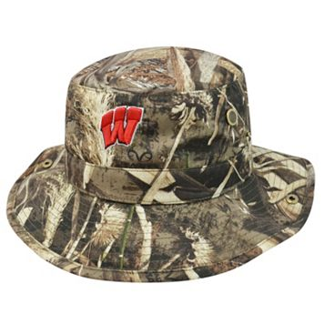 Adult Top of the World Wisconsin Badgers Realtree Camouflage Boonie Max Bucket Hat