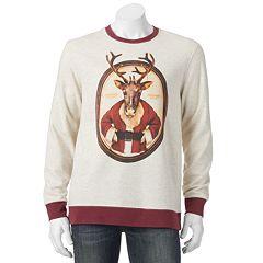 Men's Reindeer Santa Christmas Sweatshirt