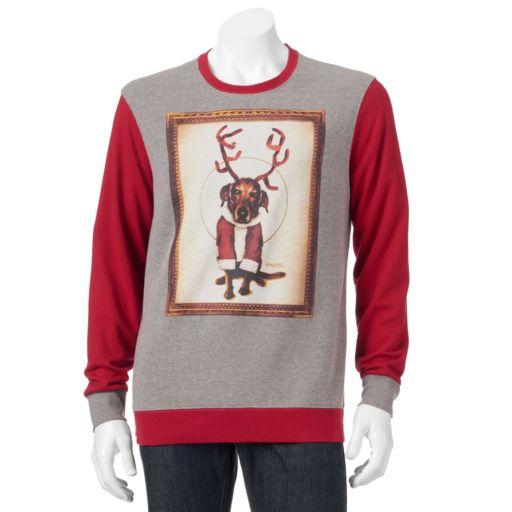 Men's Reindeer Dog Christmas Sweatshirt