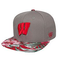 Adult Top of the World Wisconsin Badgers Coast Adjustable Cap