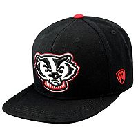 Adult Top of the World Wisconsin Badgers Xplosion Adjustable Cap