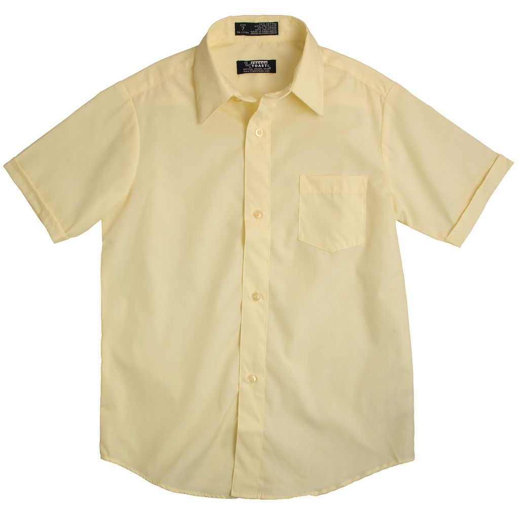 Toddler Boy French Toast Short Sleeve Button-Down Dress Shirt
