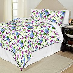 Pointehaven Primavera Printed Percale Duvet Cover Set
