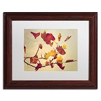 Trademark Fine Art ''Still Fall'' Matted Wooden Framed Wall Art by Philippe Sainte-Laudy