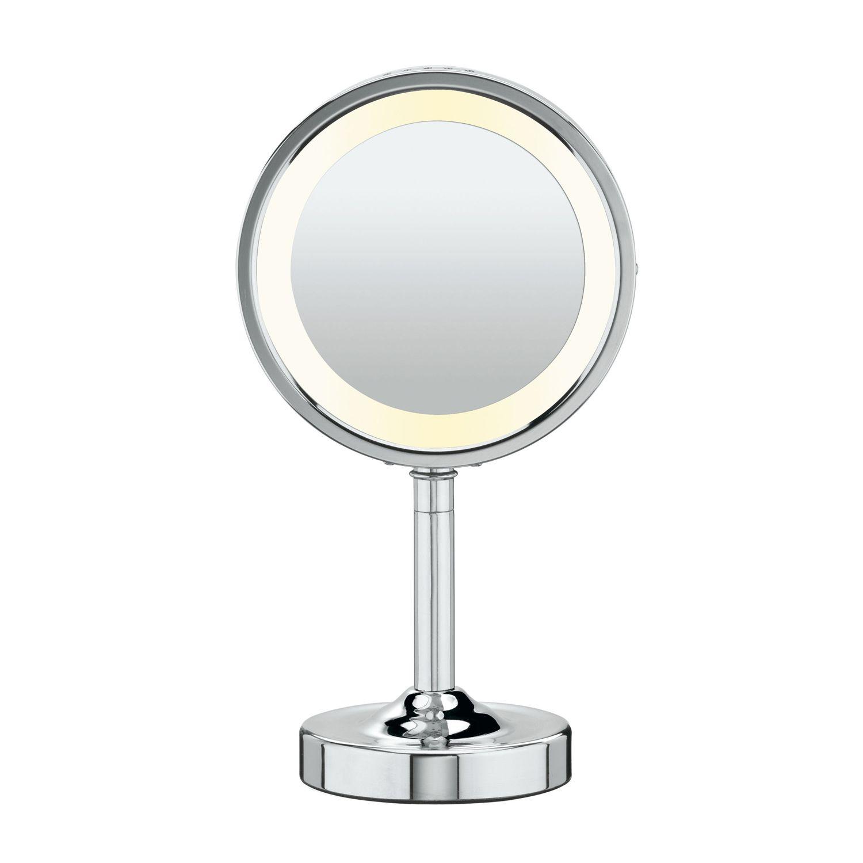 Conair oval double sided lighted mirror