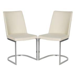 Safavieh Linen Parkston Side Chair 2-piece Set