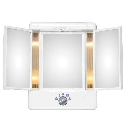 Conair Illumina Collection 3 Panel Lighted Makeup Mirror