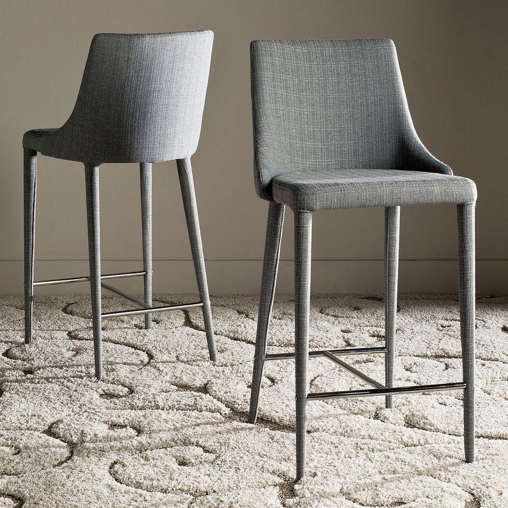 Safavieh Summerset Linen Counter Stool 2-piece Set