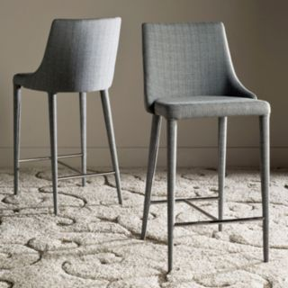 Safavieh Summerset Linen Counter Stool 2-piece Set