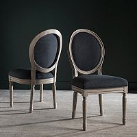 Safavieh Holloway Oval Side Chair 2 pc Set