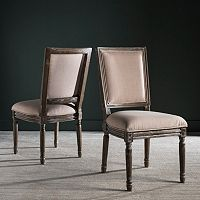 Safavieh Buchanon Rectangular Side Chair 2-Piece Set