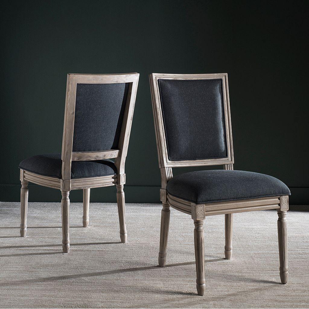 Safavieh Buchanon Rectangular Side Chair 2-Piece Set