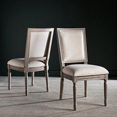 Safavieh Buchanon Rectangular Side Chair 2 pc Set